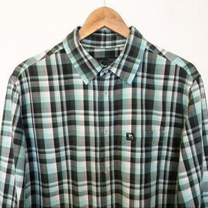 Rip Curl Men Size M Shirt Plaid Long Sleeve